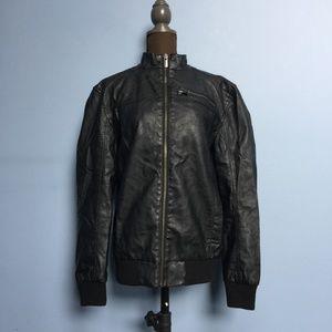 I Jeans by Buffalo Faux Leather Bomber Jacket